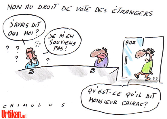 dessin du jour nicolas sarkozy le vote des trangers ce sera non. Black Bedroom Furniture Sets. Home Design Ideas