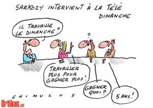 Sarkozy dimanche à la télé... et en dessins sur Urtikan.net