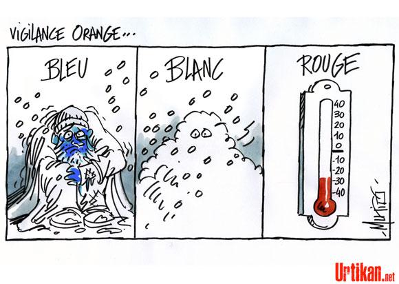 """53 départements en alerte orange """"grand froid"""""""