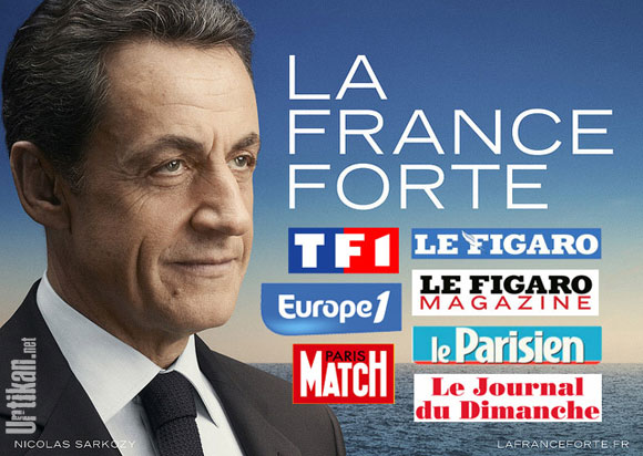 La France forte de Nicolas Sarkozy et des médias