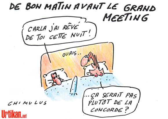 Meeting de Nicolas Sarkozy place de la Concorde le 15 avril 2012