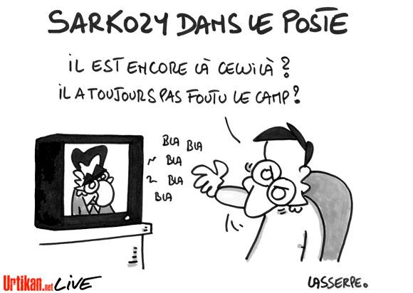 Sarkozy vante son quinquennat sans violence