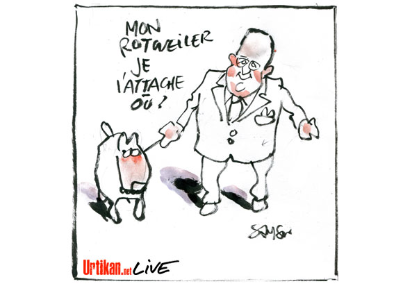 L'humour mordant de Hollande