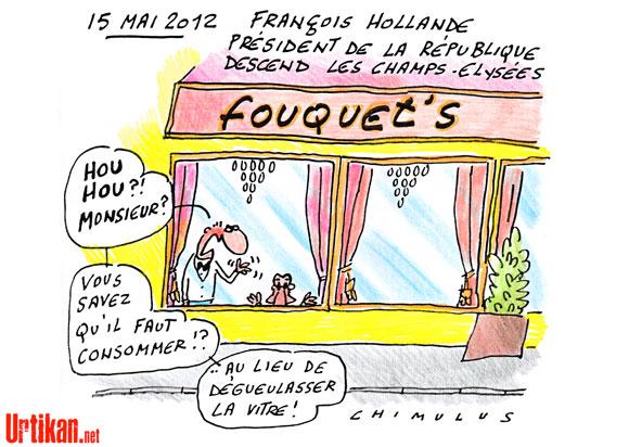 Passation des pouvoirs : Hollande veut de la sobriété