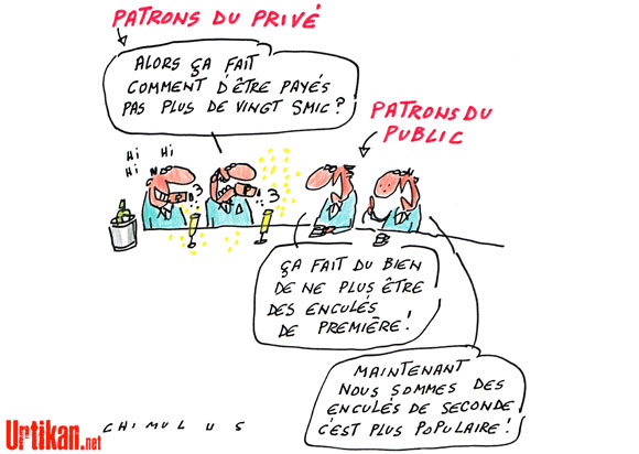 Baisse des salaires des patrons du public