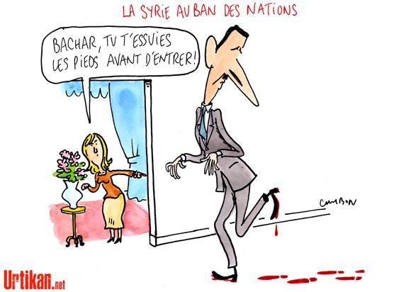 """Syrie: Assad se dit déterminé à emporter la """"guerre"""""""
