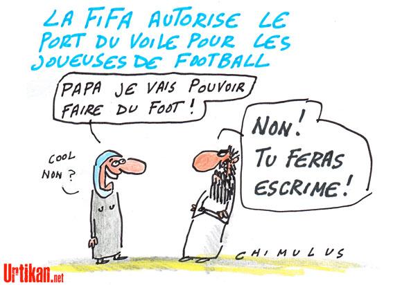 La Fifa autorise le port du voile féminin pendant les matchs