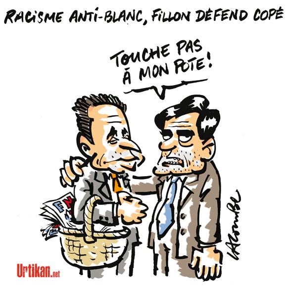 """Racisme anti-blanc: """"Copé décrit une situation qui existe"""", selon Fillon"""