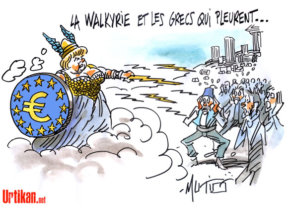 La visite d'Angela Merkel en Grèce est un échec, estime la presse allemande