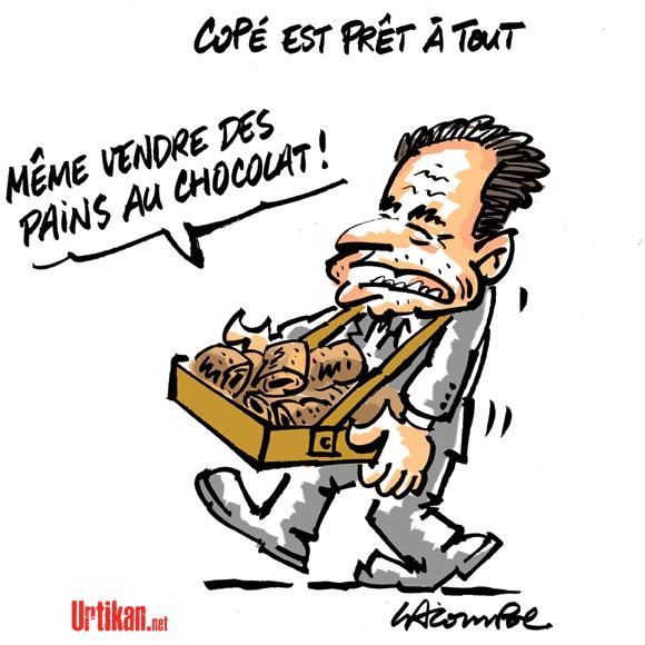 Un pain au chocolat blanc pour Jean-François Copé