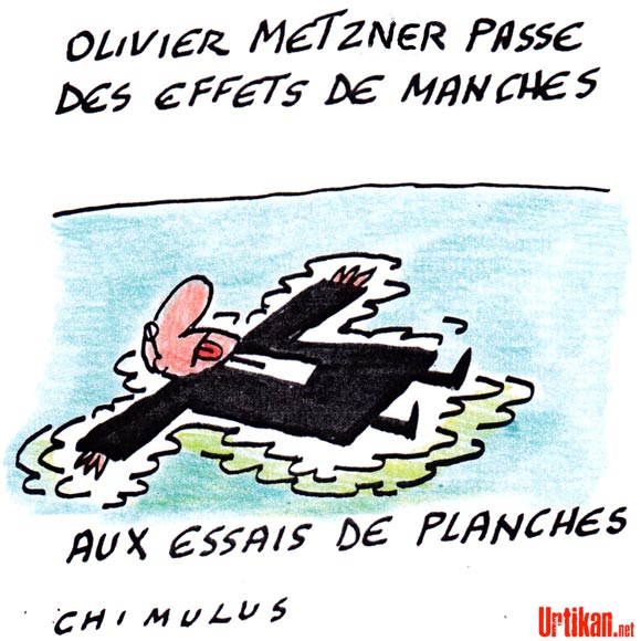 Mort de l'avocat Olivier Metzner - Dessin de Chimulus