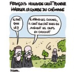 Chômage, François Hollande très attendu sur ce thème ce soir - Dessin de Lasserpe