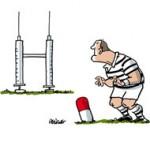 Le rugby, premier sport en France touché par le dopage - Dessin de Deligne