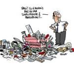 "Hollande : le ""choc de simplification"", c'est maintenant - Dessin de Deligne"