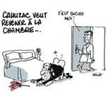 Jérôme Cahuzac veut revenir à l'Assemblée nationale - Dessin de Deligne