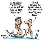 Mariage gay : Henri Guaino et Luc Chatel ont voté oui par erreur - Dessin de Deligne