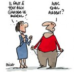 Le moral des ménages français toujours aussi bas en avril - Dessin de Deligne