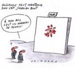 """Impopulaire, Hollande ne veut pas """"se laisser impressionner"""" - Dessin de Chimulus"""