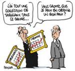 Claude Guéant : De l'argent et des tableaux - Dessin de Deligne