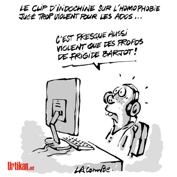 "Le clip ""College boy"" d'Indochine censuré ? - Dessin de Lacombe"
