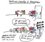 Un festival pop-électro à Paris - Dessin de Chimulus