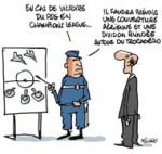 Débordements au Trocadéro : la police et le PSG ont sous-estimé les risques - Dessin de Deligne