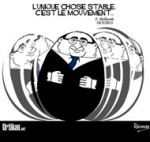 Hollande à l'«offensive» face à la récession et aux inquiétudes - Dessin de Pakman