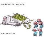Moscovici renonce à plafonner le salaire des patrons - Dessin de Chimulus