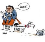 Affaire Tapie : l'Etat se portera partie civile - Dessin de Deligne
