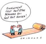 "Bernard Tapie : ""S'il y a eu entourloupe, j'annule l'arbitrage"" - Dessin de Chimulus"