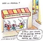 Municipales : Hidalgo et NKM lancent la bataille de Paris - dessin de Chimulus