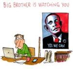 Espionnage : Big Brother vous surveille - Dessin de Cambon