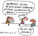 Depardieu à l'amende pour conduite en état d'ivresse - Dessin de Chimulus