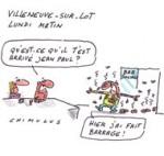 Villeneuve-sur-Lot : malgré sa défaite, le FN se frotte les mains - Dessin de Chimulus
