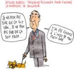 Ziad Takieddine admet avoir financé la campagne d'Édouard Balladur - Dessin de Cambon