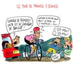 Le tour de France de François Hollande- Dessin de Cambon