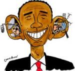 Espionnage : Obama promet des éclaircissements à l'UE - Dessin de Cambon