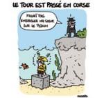 Un Tour de France Corsé - Dessin de Lasserpe