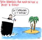 Batho limogée : Ayrault dément pratiquer l'austérité - Dessin de Cambon