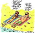 Vacances, j'oublie tout... - Dessin de Faujour