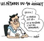 François Hollande a mal vécu son 14 juillet - Dessin de Soulcié