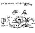 La France, pays le plus visité par les étrangers - Dessin de Faujour