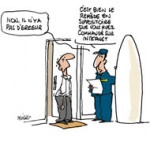 Pharmacie en ligne: attention aux surprises - Dessin de Deligne