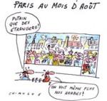Paris au mois d'août - Dessin de Chimulus