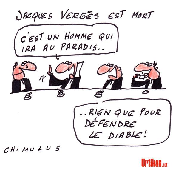 Jacques Vergès, la mort d'un avocat controversé - Dessin de Chimulus