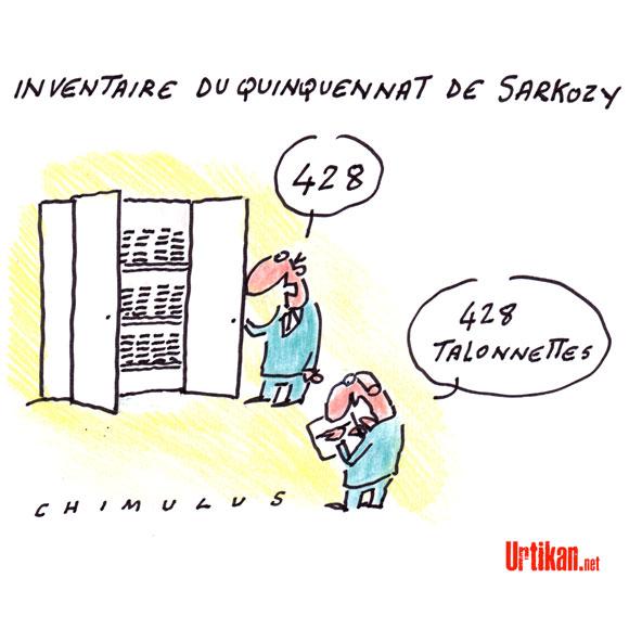 Le bilan Sarkozy : inventaire ou débat selon l'UMP ? - Dessin du jour de Chimulus