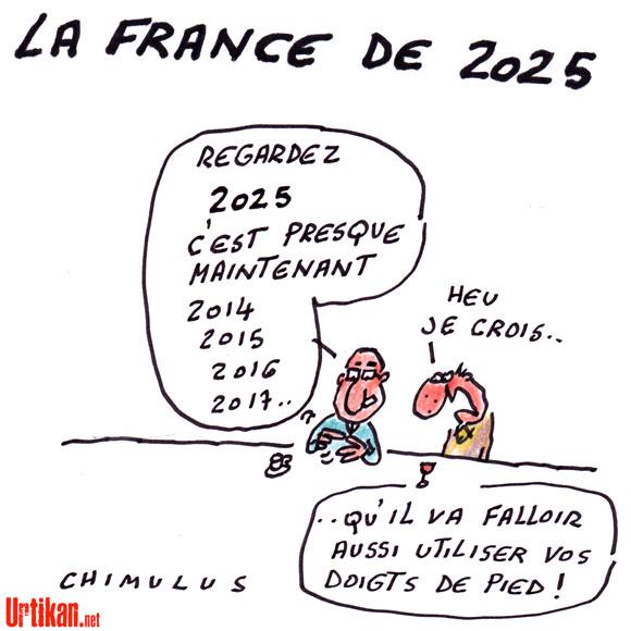 """""""La France en 2025"""": l'opposition raille la rentrée gouvernementale - Dessin du jour de Chimulus"""