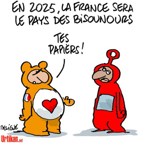 2025: Vision d'avenir pour le gouvernement Français - Dessin de Deligne