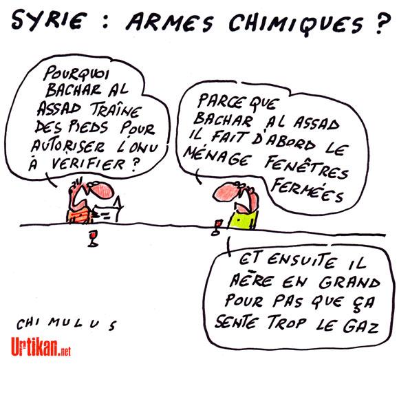 Syrie : l'indignation ne suffit pas - Dessin du Jour de Chimulus