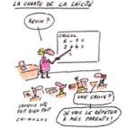 La charte de la laïcité de Vincent Peillon dans chaque école - Dessin du Jour de Chimulus
